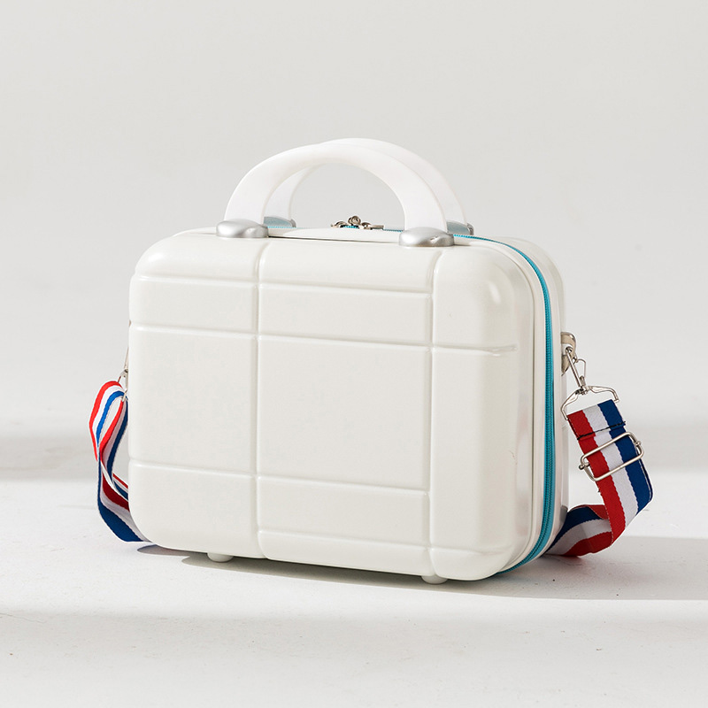 Solid Color Simple Suitcase For Women  Mini Makeup Case 14 Inch Small Light Suitcase Cute Storage Shoulder Bag 2021 New Design