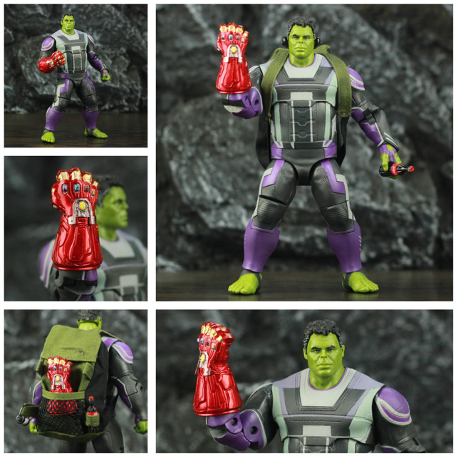 Marvel Avengers Endgame Hulk with Red Infinity Gauntlet and Quantum Suit 8inch. 1