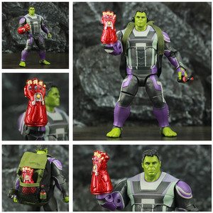 "Image 1 - ZD Spielzeug Avenger 4 Endgame Hulker Quantum Anzug 8 ""20cm Action Figure Movie Robert Bruce Banner Legends Original puppe Modell"