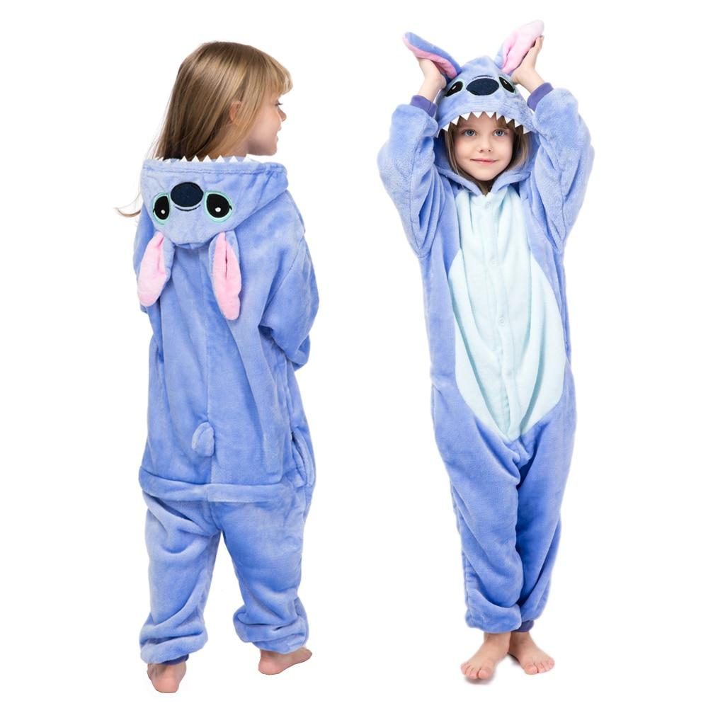 kids winter stich pajamas children panda dinosaur sleepwear unicorn kigurumi onesies for boys girls blanket sleeper baby costume 6