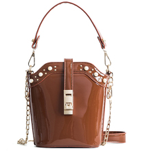MONNET CAUTHY Autumn New Ladies Totes Fashion Vintage Chic Style Handbag Solid Color Brown Black Green Red Party Girl Bucket Bag