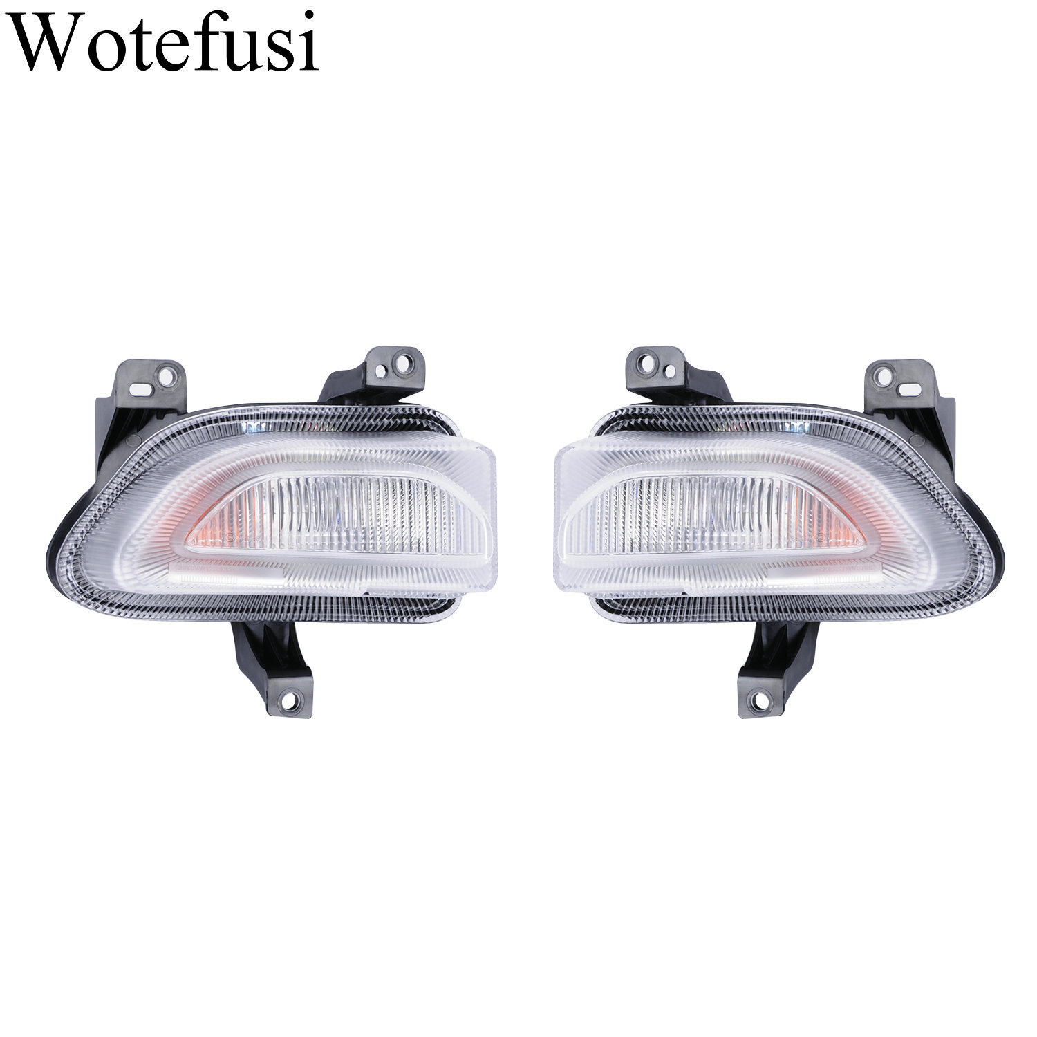 Wotefusi 2pcs Car ABS Plastic Daily lights Fit for Jeep Renegade Before 2018 [QPA640]|Lamp Hoods|   - title=