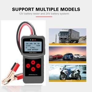 Image 4 - MICRO 200 פרו רכב סוללה בודק 12v 24v רב שפה דיגיטלי AGM EFB ג ל רכב עומס סוללה מערכת מנתח לרכב Moto