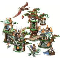 Jurassic World Dinosaur Bricks Compatible Legoinglys Jurassic World 75929 Model Building Blocks Boys Gifts Toys for Children