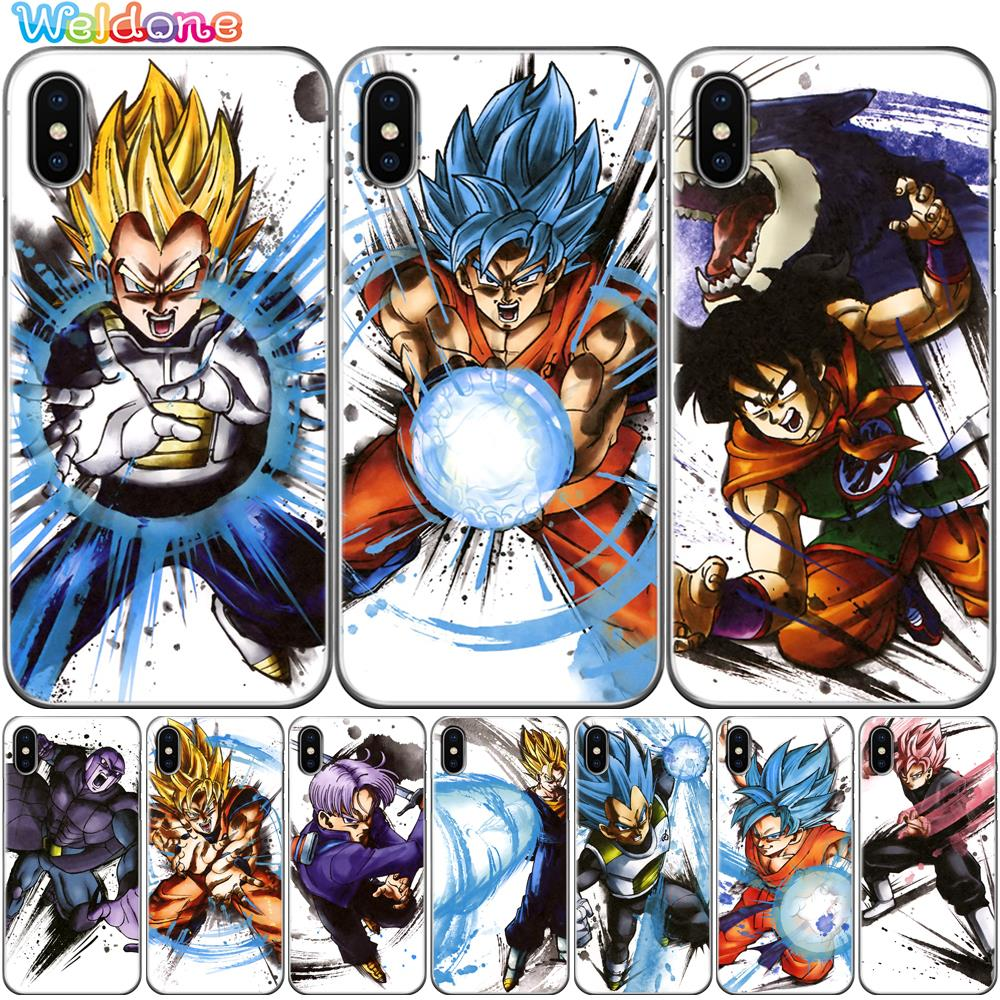 Phone Cases Dragon Ball DragonBall Goku cases Cover For iPhone XS Max XR X 8 7 6S Plus 5S soft silicone phone case cover etui