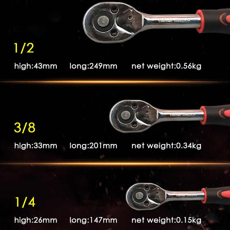 """1/4 """"3/8"""" 1/2 """"inç 24 diş cırcır anahtarı uzatma teleskopik kilit lokma anahtar alet plakası cırcır kolu anahtarı"""