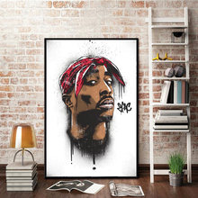 Абстрактный настенное искусство знаменитый певец звезда Портрет