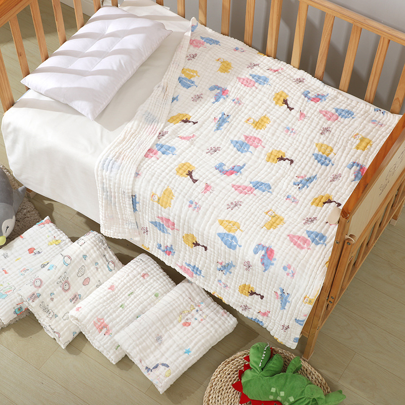 Baby Blanket Child Warm Bath Blanket Baby Knitted Bedding Travel Blanket Soft and Breathable Wrapped Child Quilt
