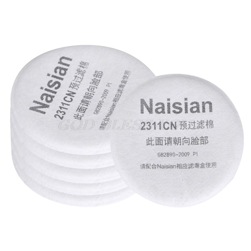 10PCS Filter Respirator Cotton Filter For Dust Face Mask Parts Gas Isolation