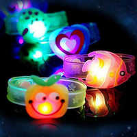 Funny Fashion Watch Toys Luminous Bracelet Creative Children's Watch Flash Wrist Luminous Toys Kids Gifts Toys for Girl Boy Kids