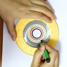 Круг инструмент для рисования регулируемый измерения Нержавеющая сталь Творческий чертежная линейка Чертежные Инструменты