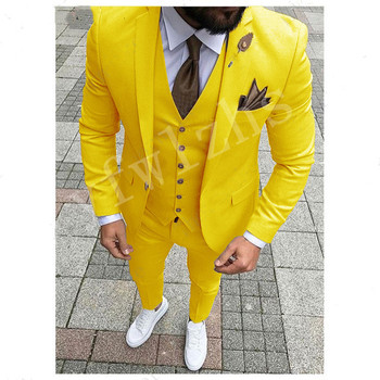 New Arrival One Button Groomsmen Notch Lapel Groom Tuxedos Men Suits Wedding/Prom Best Man Blazer ( Jacket+Pants+Vest+Tie) notch lapel pocket one button blazer and pants twinset