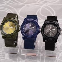 Gemius Army Watches Men Waches Nylon Band Sports Fashion Military Quartz Wristwatches horloge heren reloj hombre