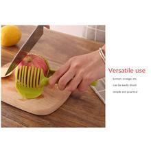 Ручной круговой нож для резки картофеля, устройство для нарезки лимона, кухонный держатель для резки, кухонные принадлежности