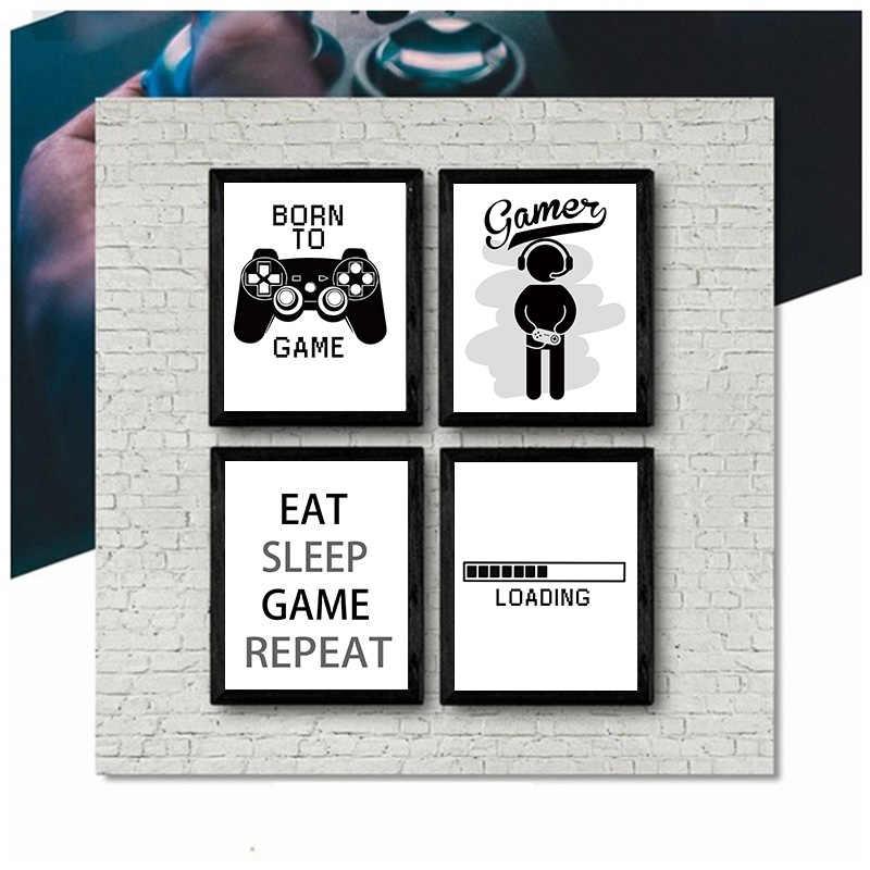 2019 новый дизайн мальчиков игра постер и принт Изобразительное искусство геймер цитаты настенный художественный холст живопись для детской комнаты украшения