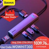 Baseus USB C HUB USB a Multi HDMI compatibile USB 3.0 RJ45 lettore Carder adattatore OTG Splitter USB per MacBook Pro Air HUB Dock