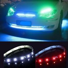 цена на 4Pcs 12V 30cm 15SMD Car Decorative Lamp Flexible LED Light Strip Car LED Daytime Running Light Car LED Strip Light DRL Angel Eye