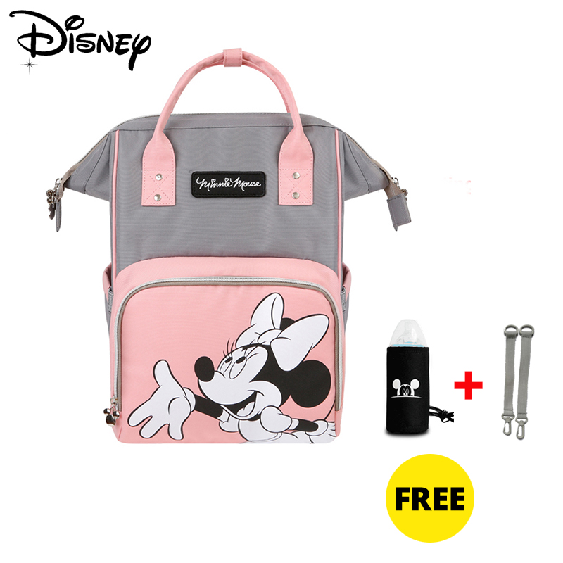 Disney Usb Baby Diaper Bag Mickey Minnie Backpack Mummy Maternity Nappy Bag Baby Care Multifunctional Bags Organizer Pram