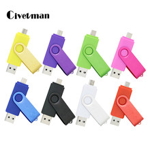 Civentman USB Flash Drive OTG 2.0 Pen Drive 128GB CLE USB флэш-накопител USB Stick 64GB 32GB 16GB 8GB 4GB Pen Drive for phone