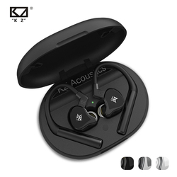 KZ E10 TWS Беспроводные наушники с сенсорным управлением Bluetooth 5,0, гибридные наушники 1DD + 4BA, спортивные наушники с шумоподавлением и басами