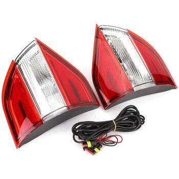 2PCS Multi-Functions Car LED Rear Tail Lamp Pillar Light Bumper Light Brake Light Reflector for Ford Everest 2016 2017 2018