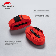 Naturehike 2 Pcs Outdoor Multi-purpose Strapping Strap Air Cushion Backpack Tent Tied Rope Can Spliced Emergency Can Be Use Belt