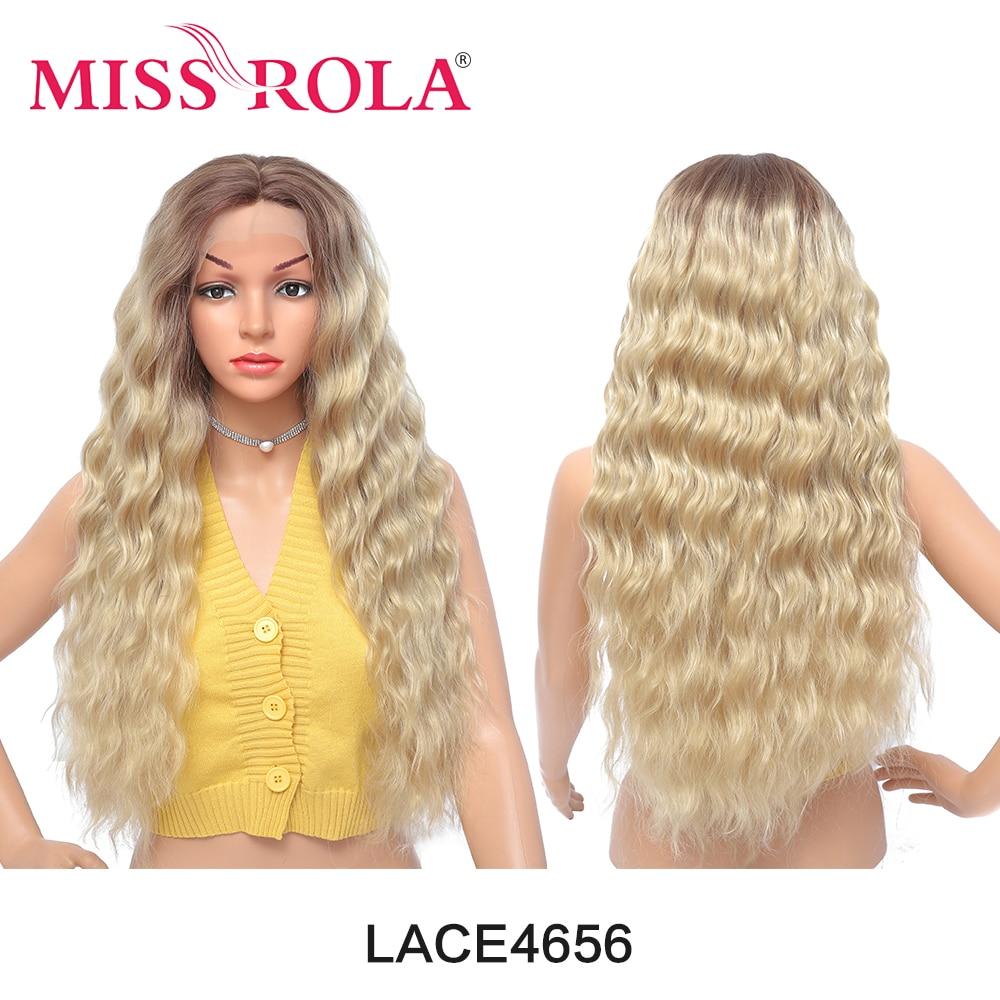 Синтетические кружевные передние парики MISS ROLA с эффектом омбре, натуральные волнистые волосы, женские длинные термостойкие черные