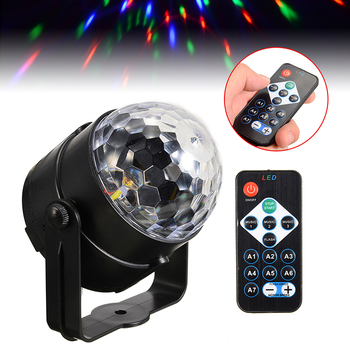 Disco Stage LED DJ Light Remote Control LED Disco Ball Laser Projector Lamp Light For Disco KTV Performance Party 7colors Change фото