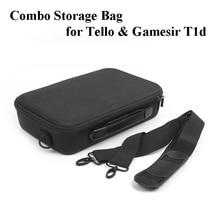 אחסון כתף תיק מגן תיק Drone & מרחוק בקר משולבת מזוודה עבור DJI Tello Drone ו Gamesir