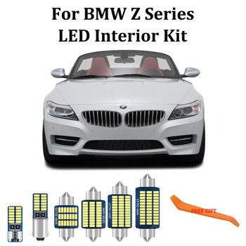 100% White Error Free LED bulb interior Map Dome Trunk lights kit For BMW Z3 E36 Z4 E85 E86 E89 Coupe Convertible (1996-2016) image