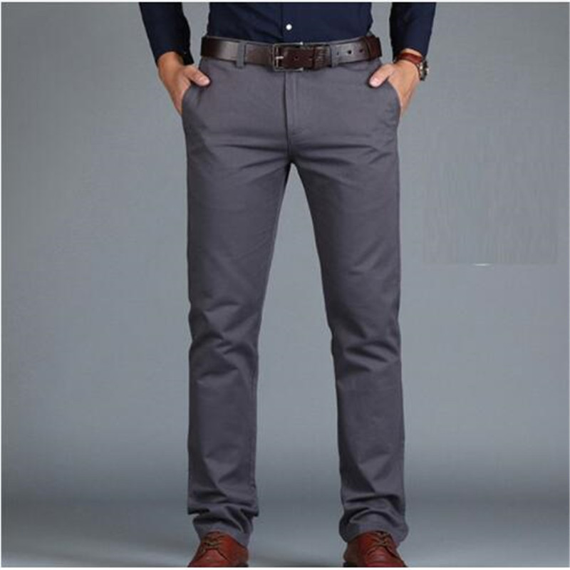 Pants Loose Cotton Full Length Men Pants Casual Pockets Army Khaki Black Male Trousers Pants Men social Big Size Summer