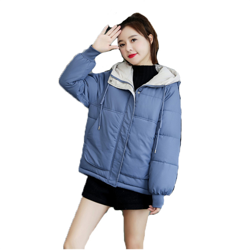 Winter Plus Size Down Cotton Coat Women 2021 New Loose Thick Warmth Fashion Temperament Yellow Green Black Bread Clothing N1020