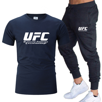2020 sportswear men's suit T-shirt + pants 2 piece suit men and women new fashion printed casual sportswear fitness pants stylish monkey king printed t shirt and pencil pants twinset for women
