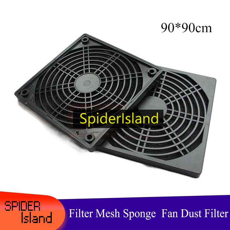 New Cooler Dustproof Sponge Filter Mesh Computer Cooler Colander Dust Net PC Case Fan Dust Cover Case Guards 3 In 1 Dust Net 9cm
