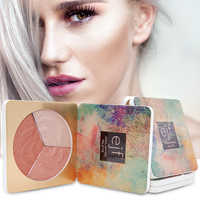 3 farben Schönheit Make-Up Shimmer Highlighter Iluminador Konturierung Gesicht Kosmetik Gedrückt Pulver Highlight Palette Erhellen Haut