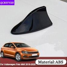 For Volkswagen Polo Mk6 AW Virtus Sedan 2018-2020 Car Shark Fin Antenna Special Car Radio Aerials Signal Car Sticker Accessories