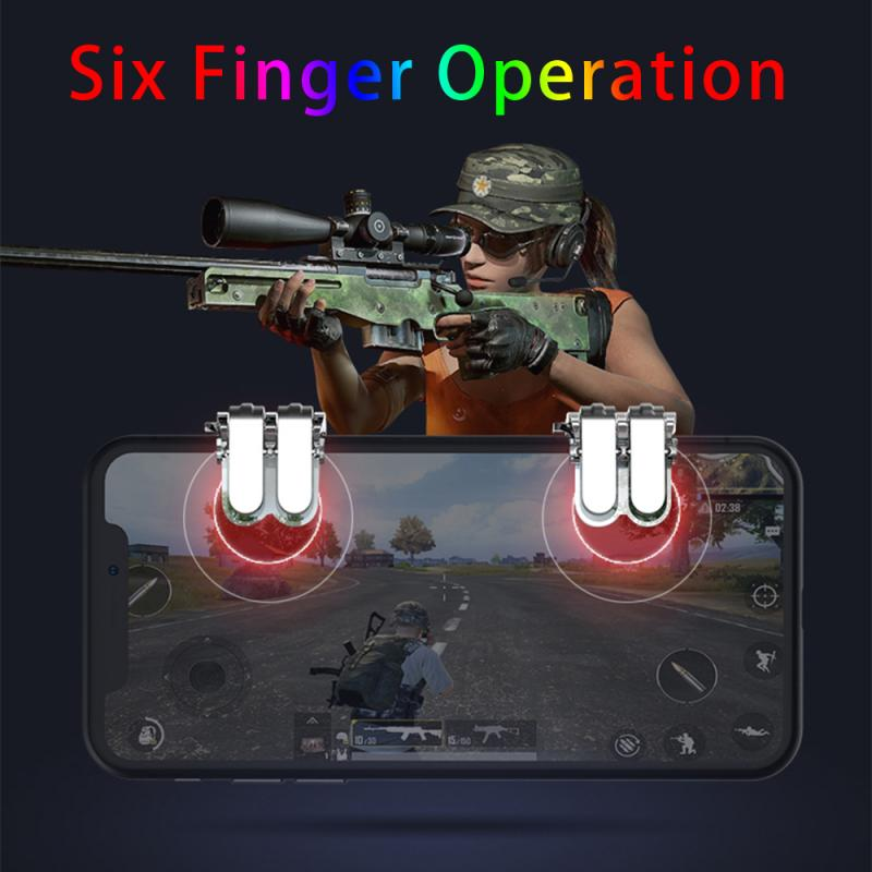 2pcs/lot Update Metal Game Trigger Fire Button Smartphone Mobile Joystick Game L1 + R1 Shooter Controller PUBG / Survival Rule