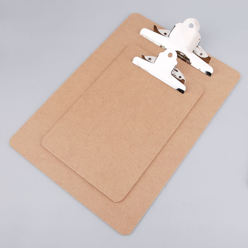 Portable A4/A5 Wooden Writing Clip Board File Hardboard With Batterfly Clip For Office School Stationery Supplies LX9A