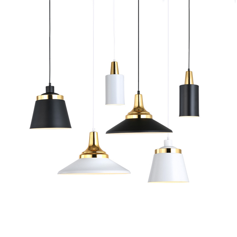 Luminaire suspendu en métal moderne luminaire intérieur noir blanc or suspension contemporaine suspension Edison