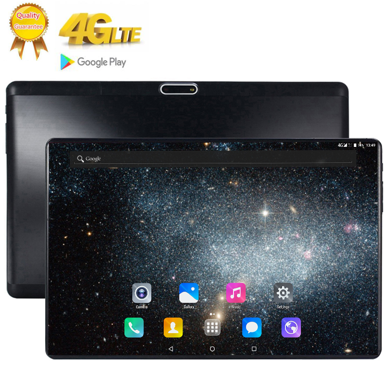 Newest 10.1 Inch Tablet Android 9.0 10 Core 8GB RAM 128GB ROM 3G 4G FDD LTE Wifi Bluetooth GPS Phone Call Glass Screen Tablet Pc