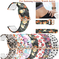 20mm Druck Silikon Uhrenarmbänder für Samsung Galaxy Uhr Aktive 42mm Getriebe Sport S2 mode klassische Armband Bands Strap correa