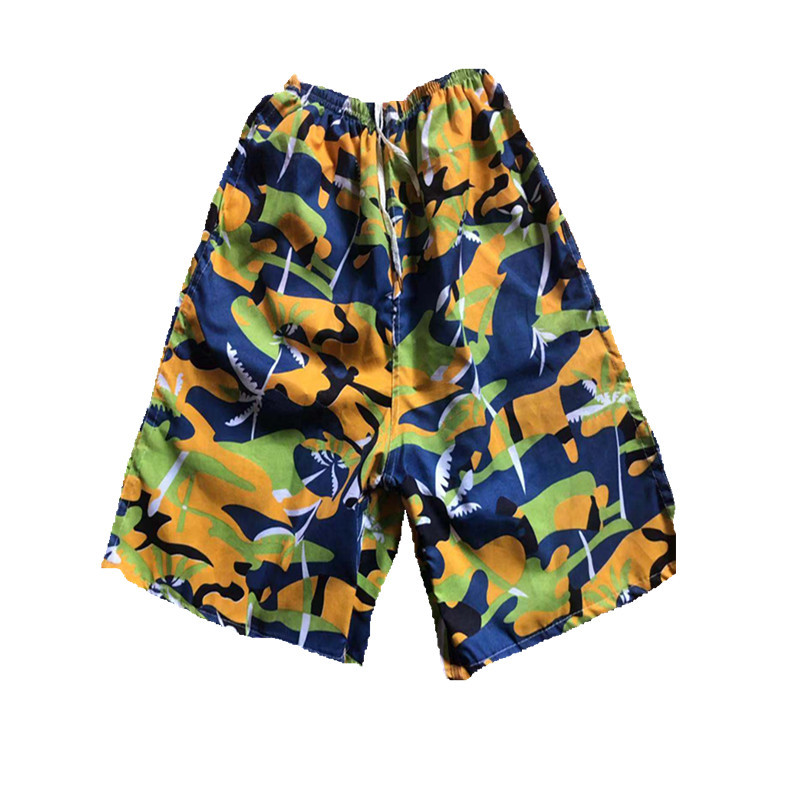 Summer MEN'S Beach Pants Quick-Drying Loose-Fit Short Casual Plus-sized Surfing Drifting Floral-Print Beach Western Style