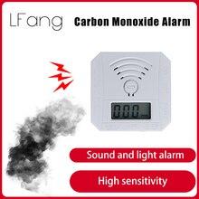 LFang Independent mini carbon monoxide alarm low power consumption LED display high sensitivity sound and light alarm