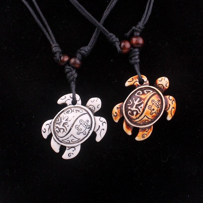 2020 Fashion Trend Seiko Polished Turtle Necklace Imitation Yak Bone Carving Pendant Imitation Bone Personality Turtle Pendant Pendant Necklaces Aliexpress