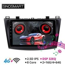 SINOSMART поддержка BOSE система/4G sim-карта встроенный DSP 8 ядерный процессор автомобильный gps-навигатор плеер для Mazda 3 2009-2012 2.5D ips/QLED