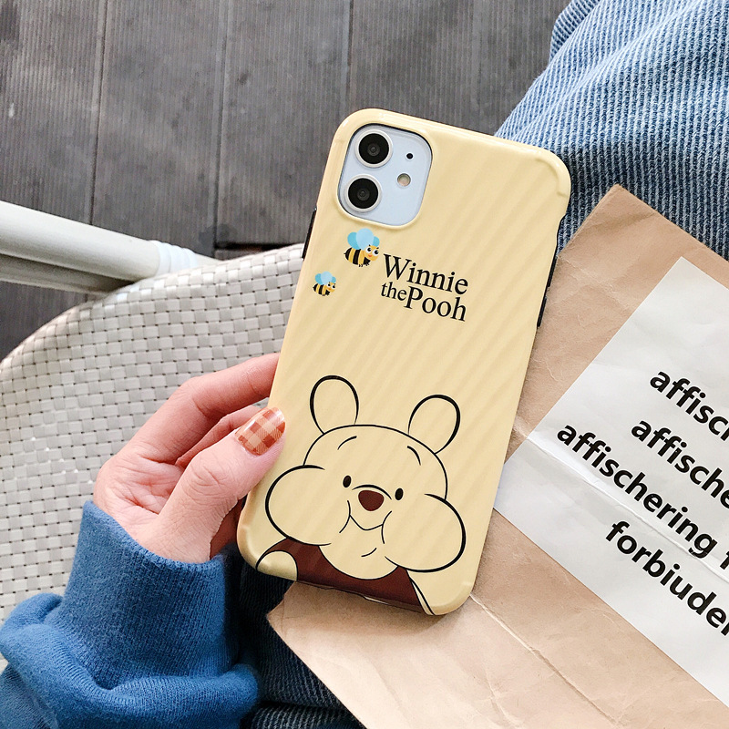 Cute Cartoon Bear Case For iPhone 11 Pro Max Phone Cover for iPhone 7 6 6s Plus Case Pooh Cartoon IMD Hard Cover For iPhone #E0(China)