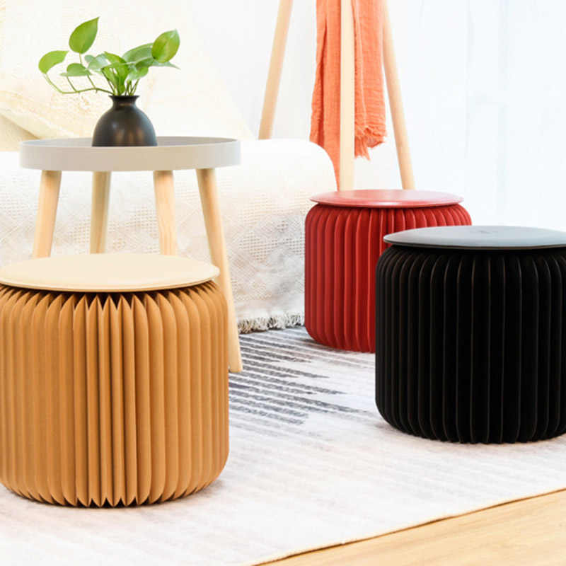 Offre spéciale Durable magique dix-huit papier pliant chaise papier tabouret chaise maison bureau salon TY