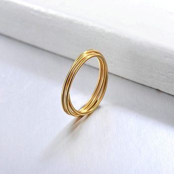 BAOYAN 2020 New Simple Three Thin Circle Three Dimensional Winding Personality Ring Rings for Men and Women image