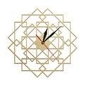 Геометрические Квадратные настенные часы многоугольная Мандала деревянные часы декор стен для дома скандинавские Современные настенные х...
