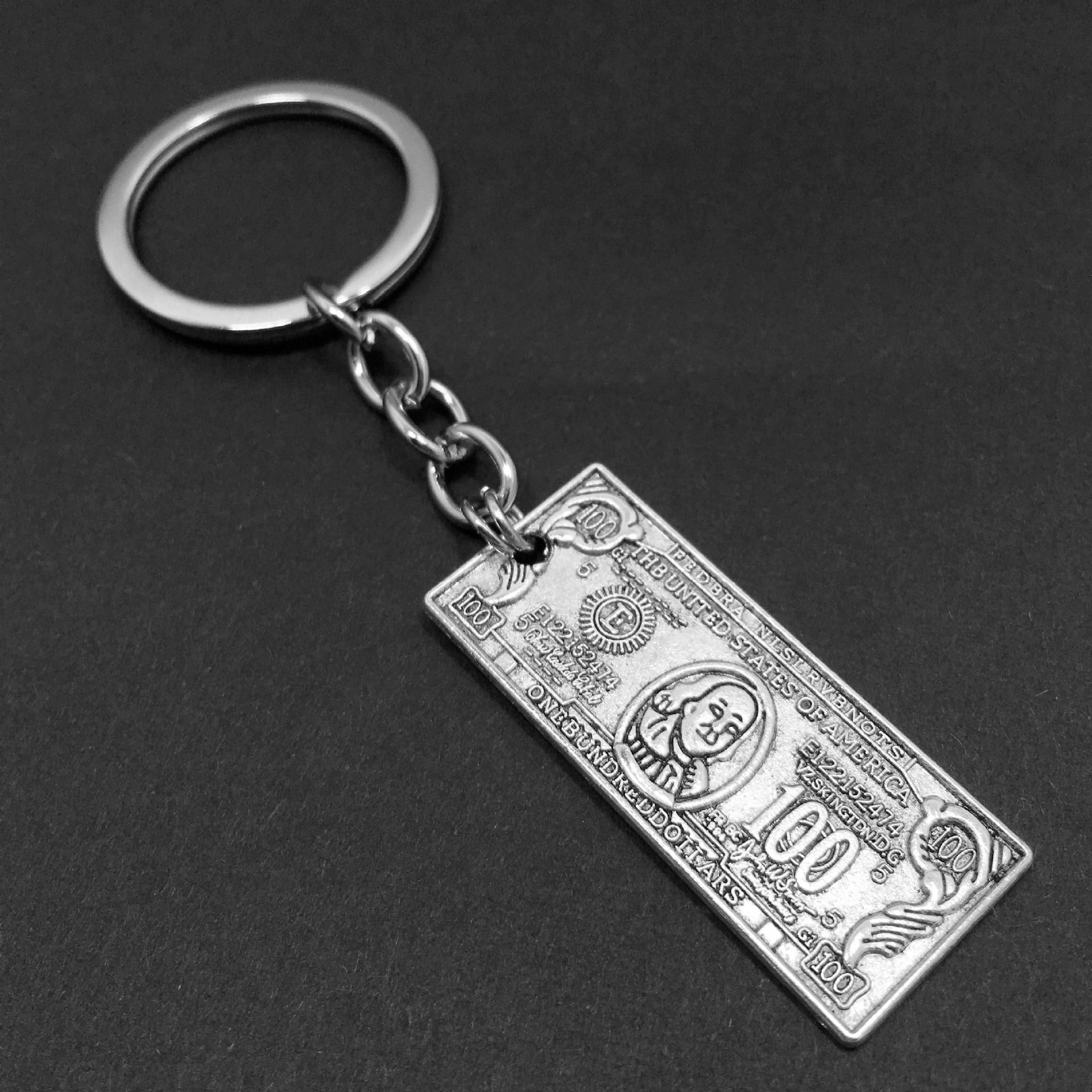 Креативный дизайн денег, автомобильный брелок, забавный брелок в форме доллара, восторг, сувенир, подарок для таможни